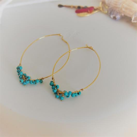 turquoise pierces