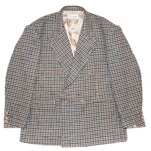 WOOL CHECK JACKET 'WIRE