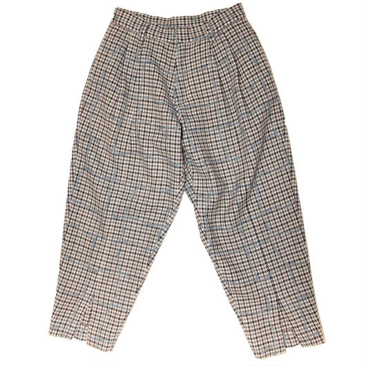 WOOL CHECK TROUSERS 'WIRE