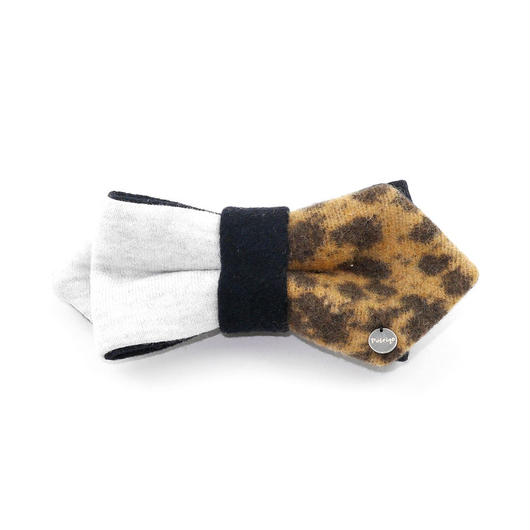 Patriqo Sweat × Leopard Bowtie スウェット×レオパード柄 蝶ネクタイ (ブローチ)