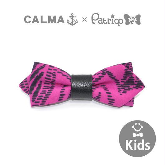 CALMA × Patriqo Vintage Scarf Kids Bowtie Wネーム ヴィンテージスカーフ蝶ネクタイ ブローチ [キッズサイズ]