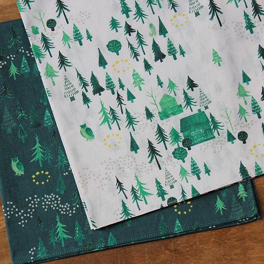 再入荷/coudre coudre × noriko kitahara「Weilersbach・おもいでの森」オリジナルプリント・ハンカチ