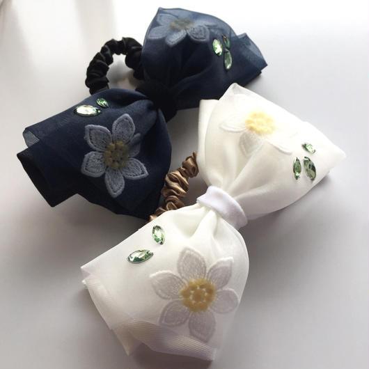 Flower Tulle Ribbon シュシュ