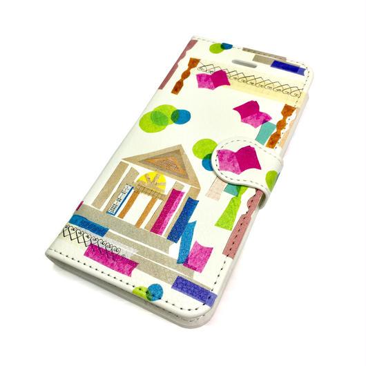 【図書館】(ビブリオテーク)iphone X/8/7/6S/6手帳型ケース