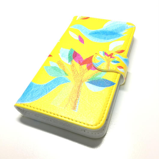 iphone手帳型ケース X/8/7/6S/6【鳥】