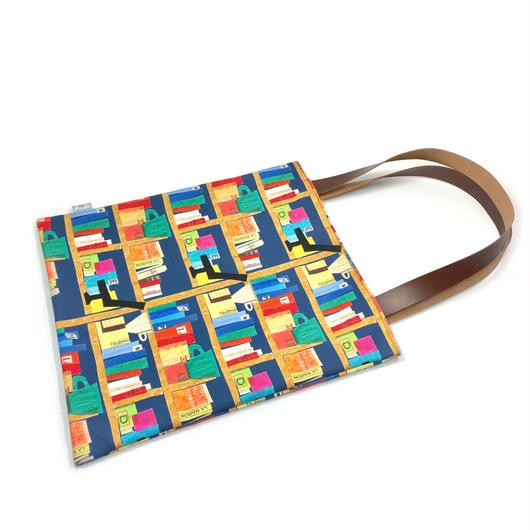 革持ち手A4バッグ【本】【チロル】【図書館】【鳥】【竹】