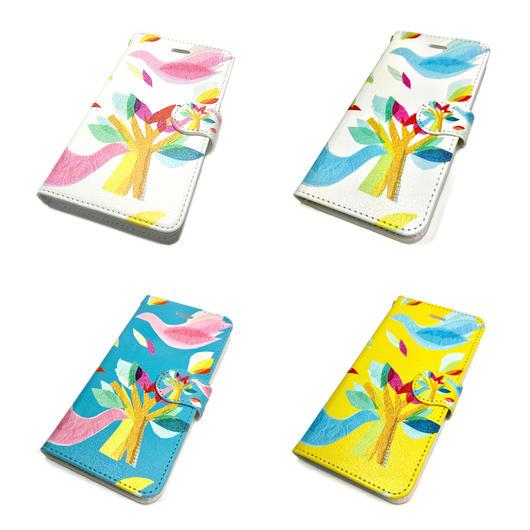 【鳥】(ロワゾ)【全4色】iphone X/8/7/6S/6手帳型ケース