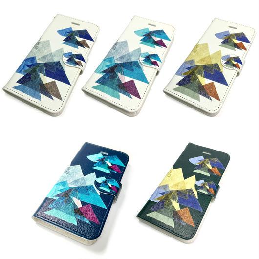 【山】(レ・モンターニュ)【全5色】iphoneX/8/7/6S/6手帳型ケース