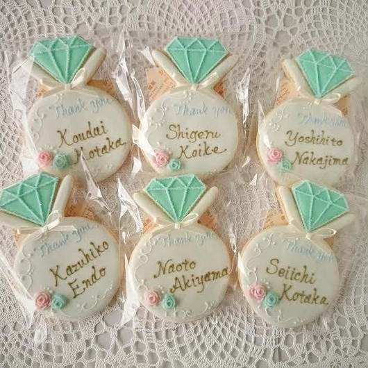 wedding   リング アイシングクッキー(ローズ) プチギフト 座席札