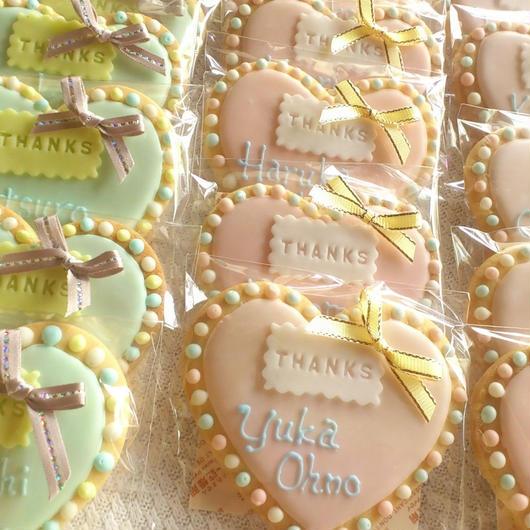 wedding ハート型(パステル)アイシングクッキー