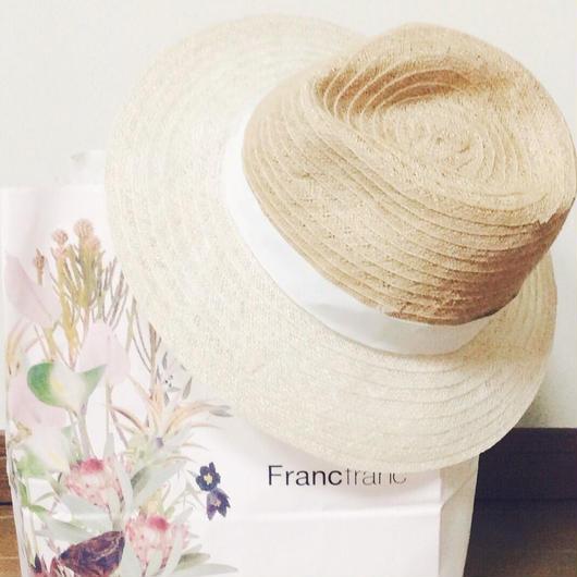 2color linen hat