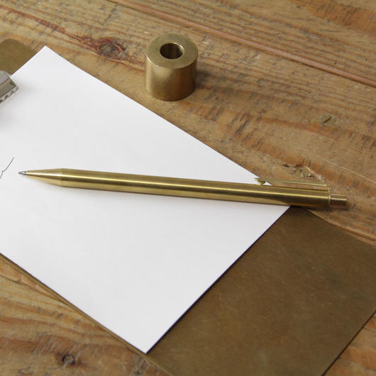 BRASS RETRACTABLE PEN (Solid Brass) +BOX