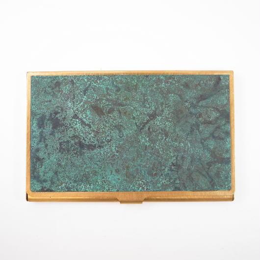 CORROSION BRASS CARDCASE HANMON ROKUSHOU( 斑紋緑青色)