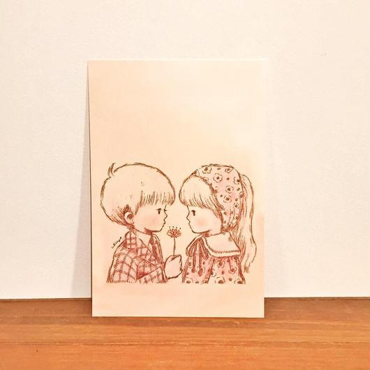 ポストカード(花を君に)