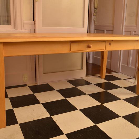 Queen pine farmhouse table(taper leg)