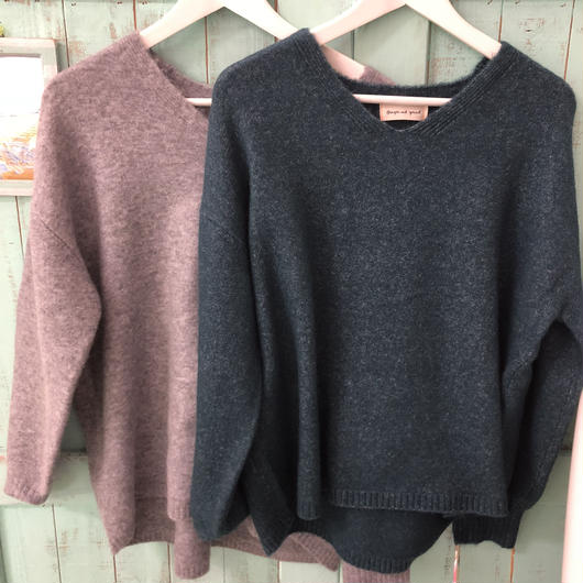 ginger and sprout soft Knit V neck