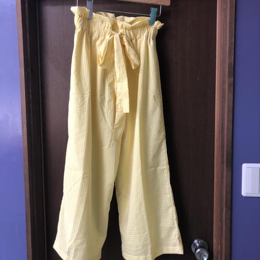 MLM gingham check ribbon wide pants