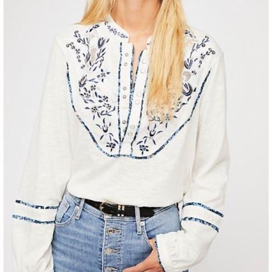 FreePeople flower blouse