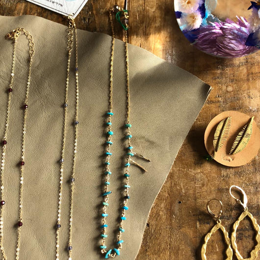 ecoRAL turquoise  short Necklace