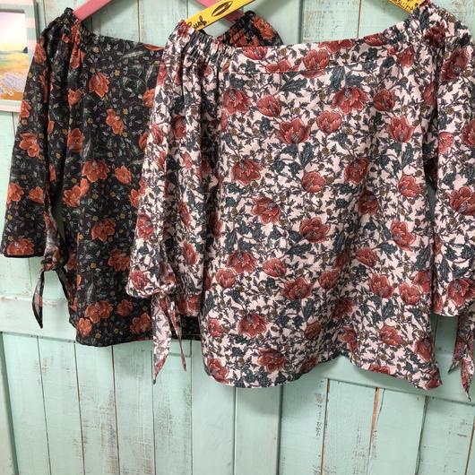 Leona flower  print tops