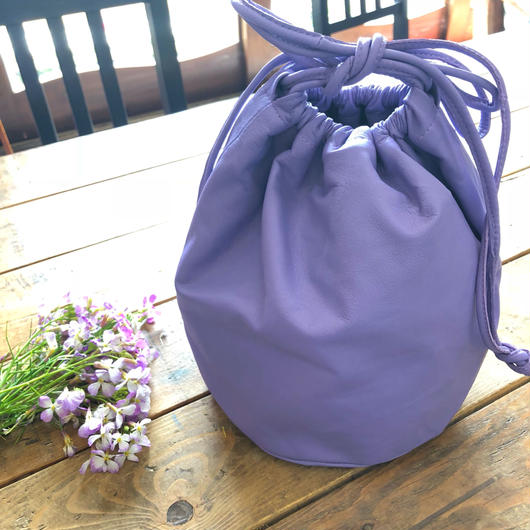 drawstring bag purple