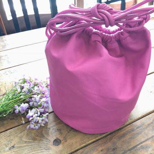 drawstring bag pink