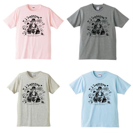 ジェニー・カオリ「MAGAZINE HOLIC GIRL」(Mono)Tシャツ
