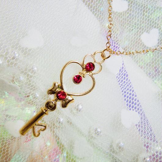 Heart stick necklace