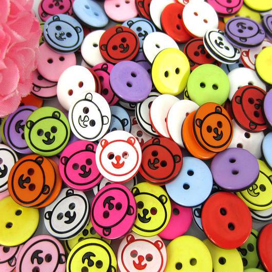 Bear button × 25piece