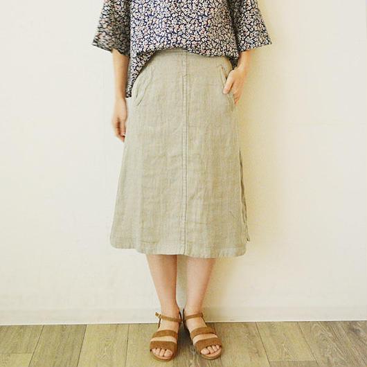 麻製品染めスカート(PH9203)