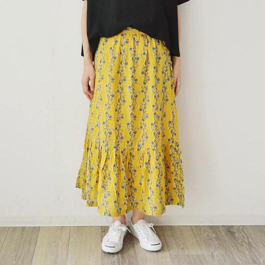 花柄プリント・ティアードスカート (PH9293)