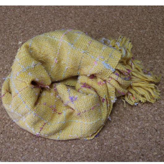 【手織りマフラー】ミモザに魅せられて