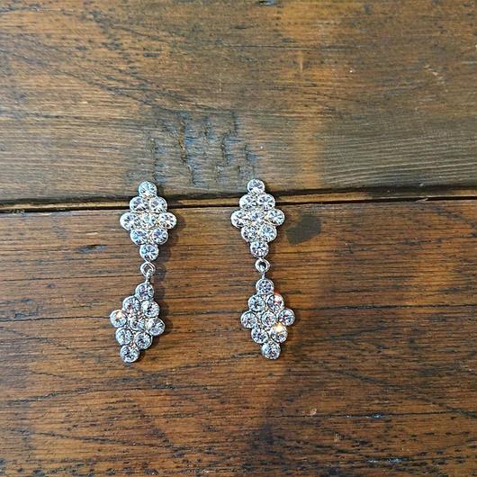 ADER.bijoux  DIAMANTE crystal pierce / earring