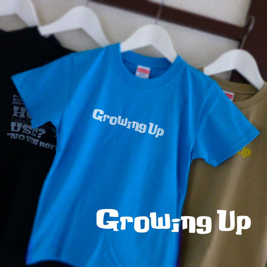 KiDS T SHiRT 130cm - Growing Up - #TURQUOiSEBLUE x WHiTE