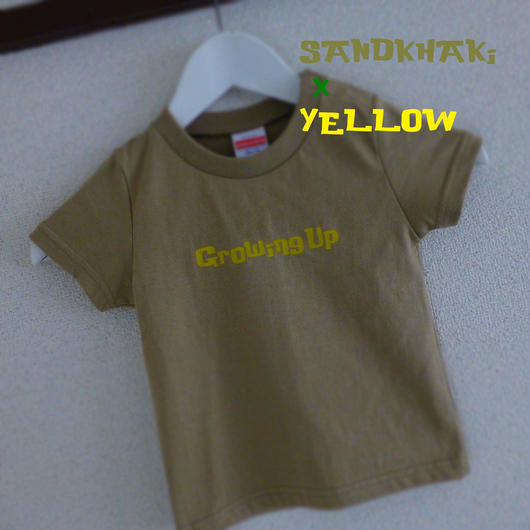 KiDS T SHiRT 90cm - Growing Up - #SANDKHAKi x YELLOW