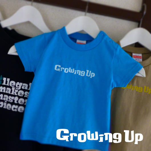 KiDS T SHiRT 90cm - Growing Up - #TURQUOiSEBLUE x WHiTE