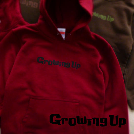 HOODED SWEAT PULLOVER for KiDS 130cm - Growing Up - #BURGUNDY x BLACK