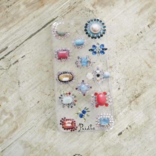 【メール便OK】bijoux print iPhone cover 5/5s clear