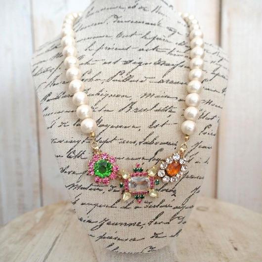 cotton pearl bijoux necklace petite 33⑤