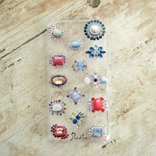 【メール便OK】bijoux print iPhone cover 6 clear