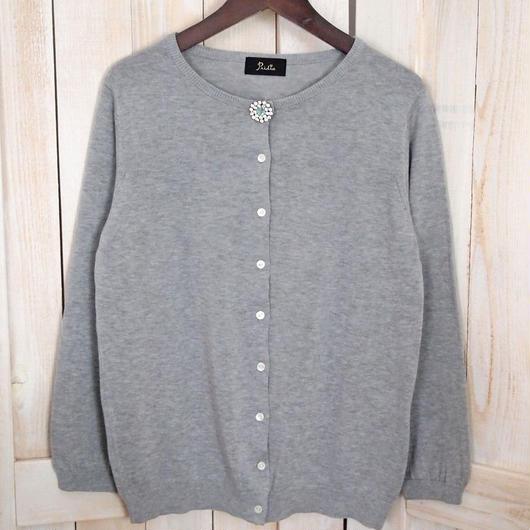 cotton bijou Cardigan grey