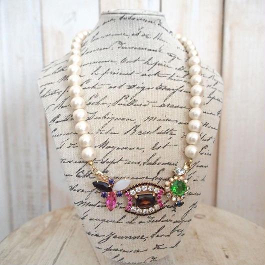 cotton pearl bijoux necklace petite 33③