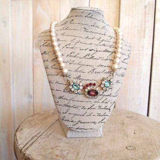 cotton pearl bijoux necklace petite 33②