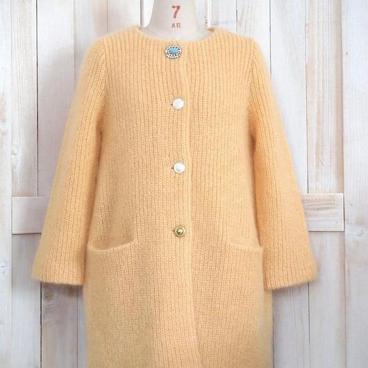 mohair bijoux Coat yellow