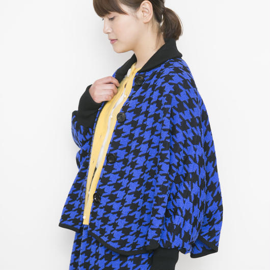 【SALE】hound`s tooh Jacket blue x black