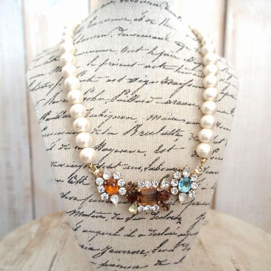 cotton pearl bijoux necklace petite 33⑥