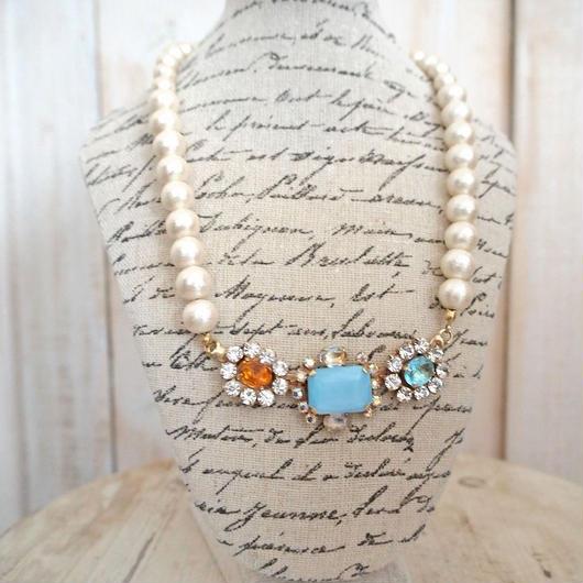 cotton pearl bijoux necklace petite 33⑧
