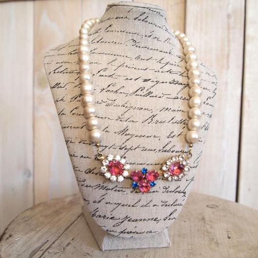 cotton pearl bijoux necklace petite 33⑦