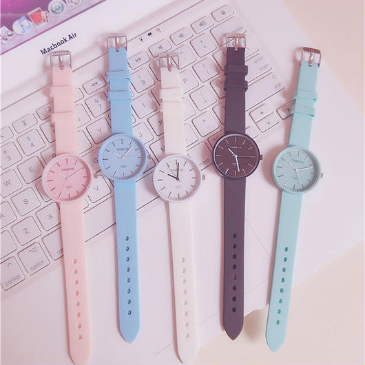 パステルカラー ラバー 腕時計 レディース かわいい