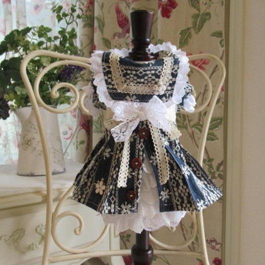 チロリアン刺繍 秋セーラーワンピ